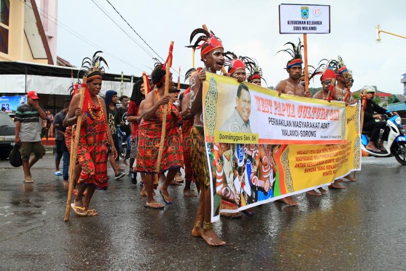 Papuan部落Malamoi 免版税库存照片