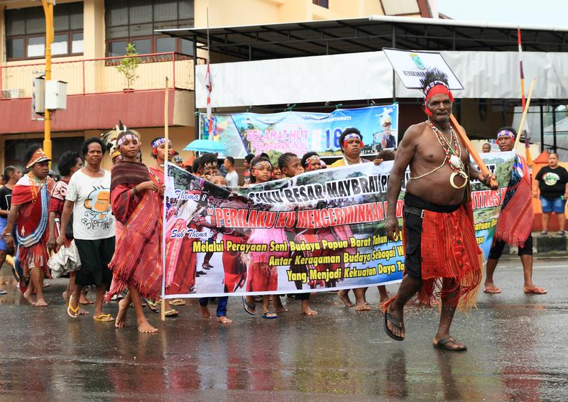 Papuan部落Maybrat 免版税库存照片