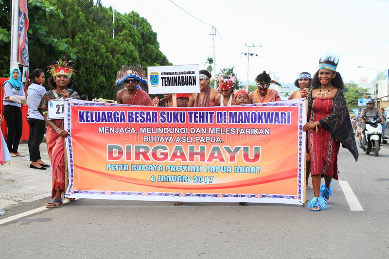 Papuan部落Tehit 库存照片