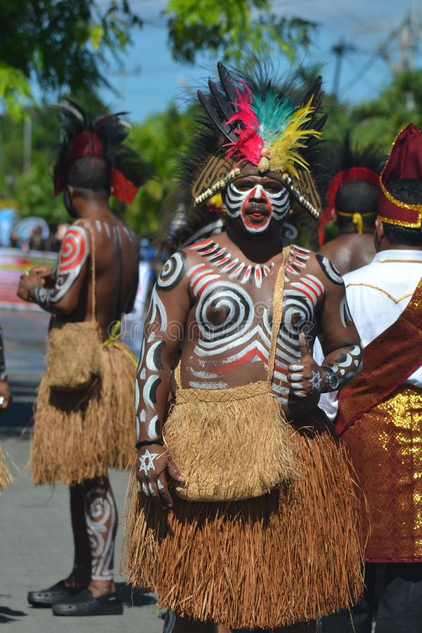 PAPUAN CARNIVAL INDONESIA INDEPENDANCE DAY stock images