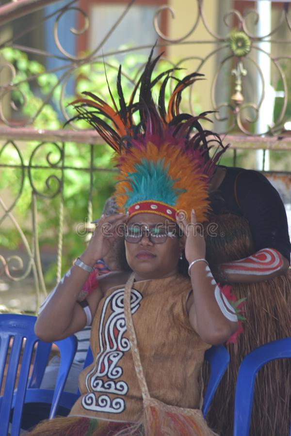 PAPUAN CARNIVAL INDONESIA INDEPENDANCE DAY royalty free stock image