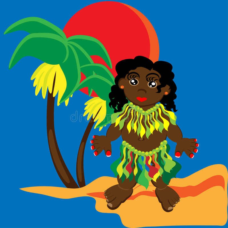 Download Papuans stock vector. Image of afro, cute, girls, cartoon - 16012331