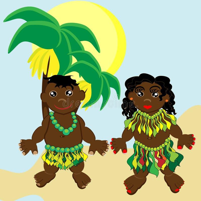 Papuans royalty-vrije illustratie