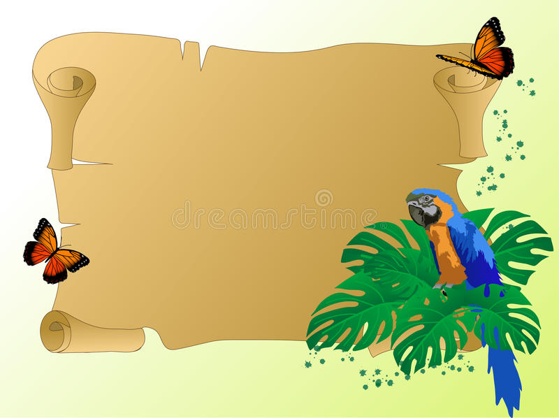 Papuga ilustracja wektor