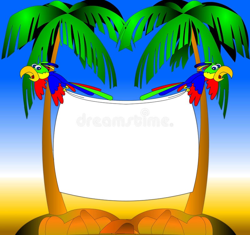 papugi dwa ilustracja wektor