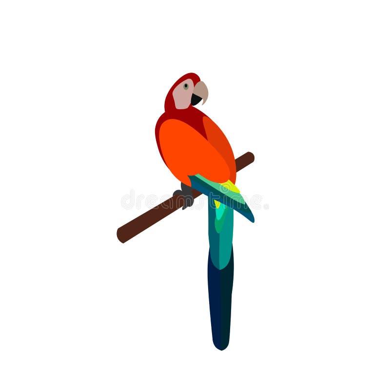 Papugi odosobniony biały tropikalny ilustracji