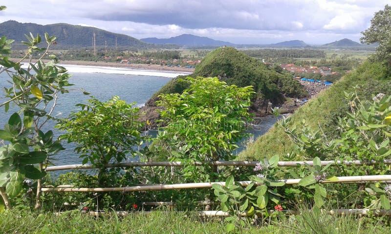 Papuma пляжа от jember стоковые фото