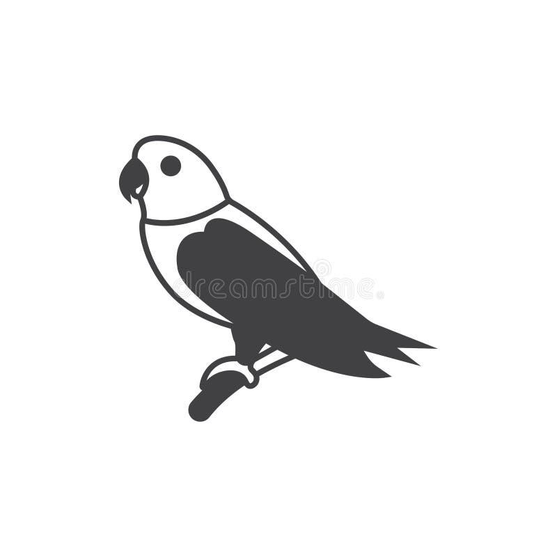 Papuzi ikona wektoru znaka symbol ilustracyjny siatki papugi wektor royalty ilustracja