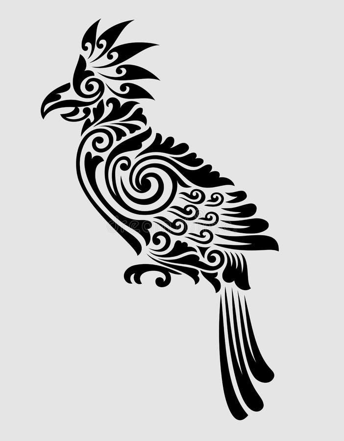 Papuzia kwiecistego ornamentu dekoracja ilustracji