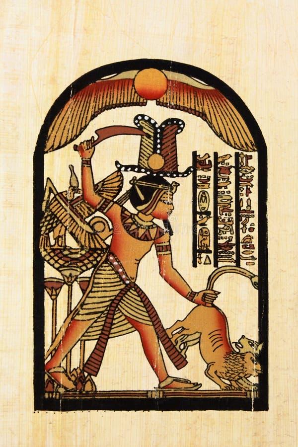 Papyrus égyptien illustration de vecteur