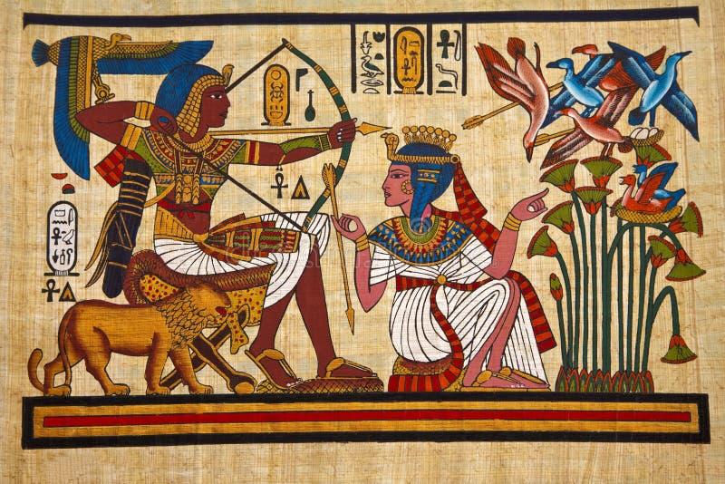 Papyrus égyptien antique image libre de droits