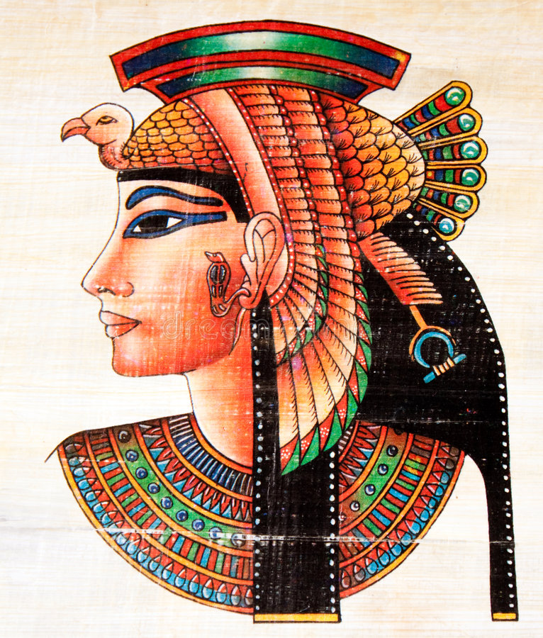 papyrus égyptien de peinture image libre de droits