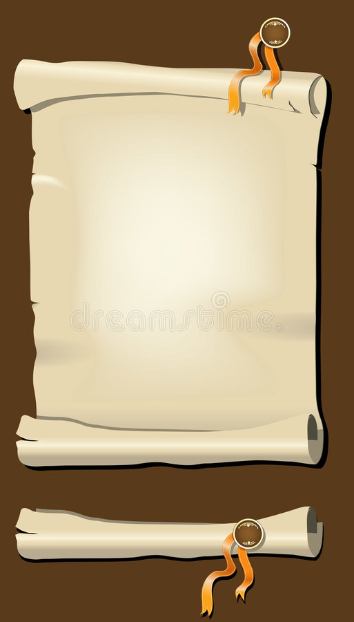 Papyrus royalty free illustration