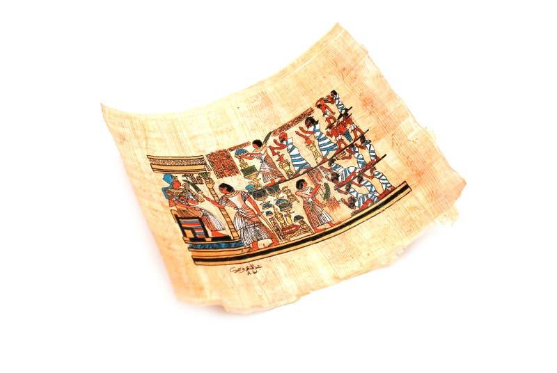 Papyrus auf dem Weiß stockbild