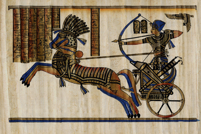 Papyrus de pharaon photos libres de droits