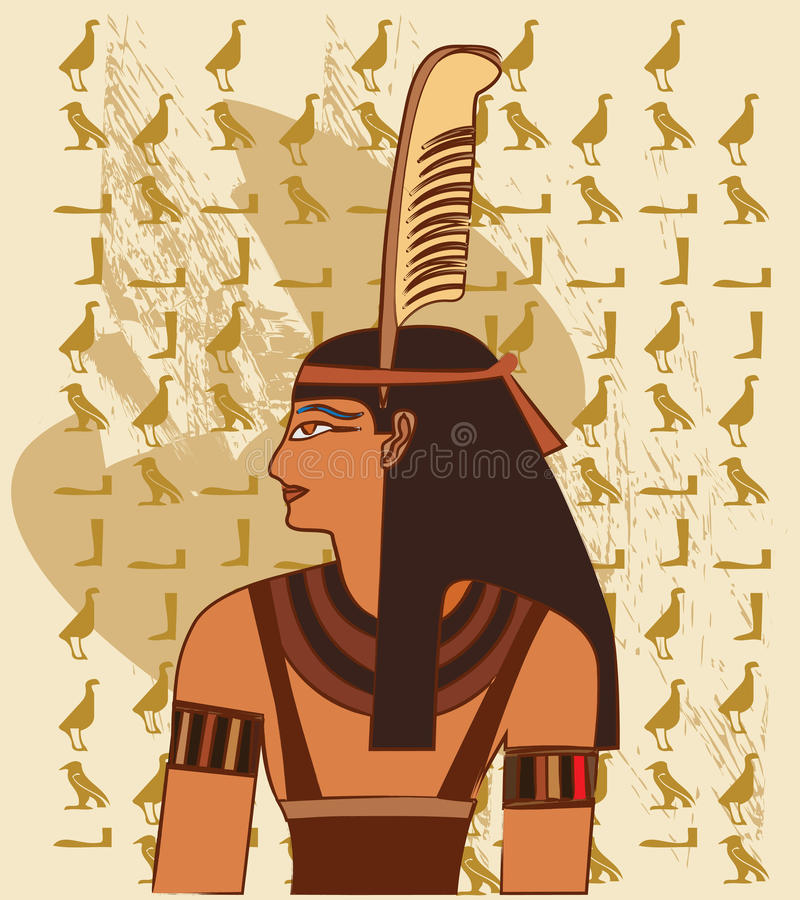 Download Papyrus With Elements Of Egyptian Ancient History Stock Vector - Image: 15918021