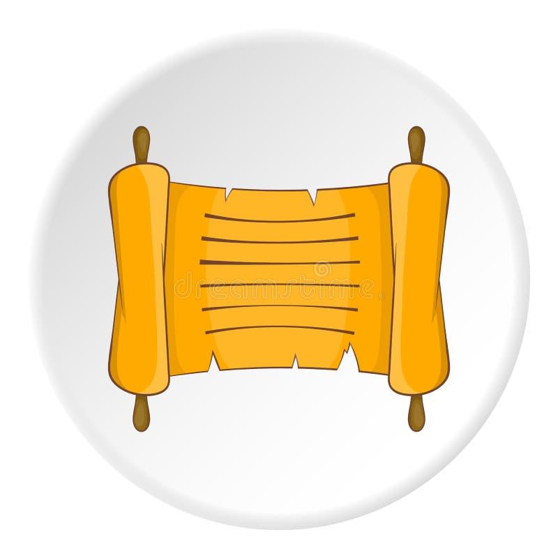 Papyrus icon, flat style royalty free illustration