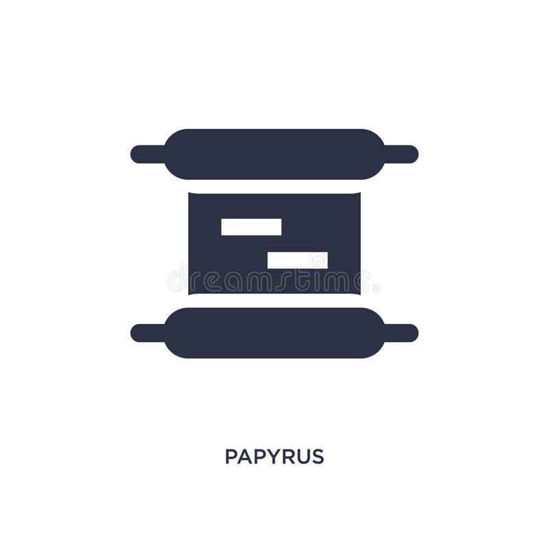 papyrus icon on white background. Simple element illustration from education 2 concept stock illustration