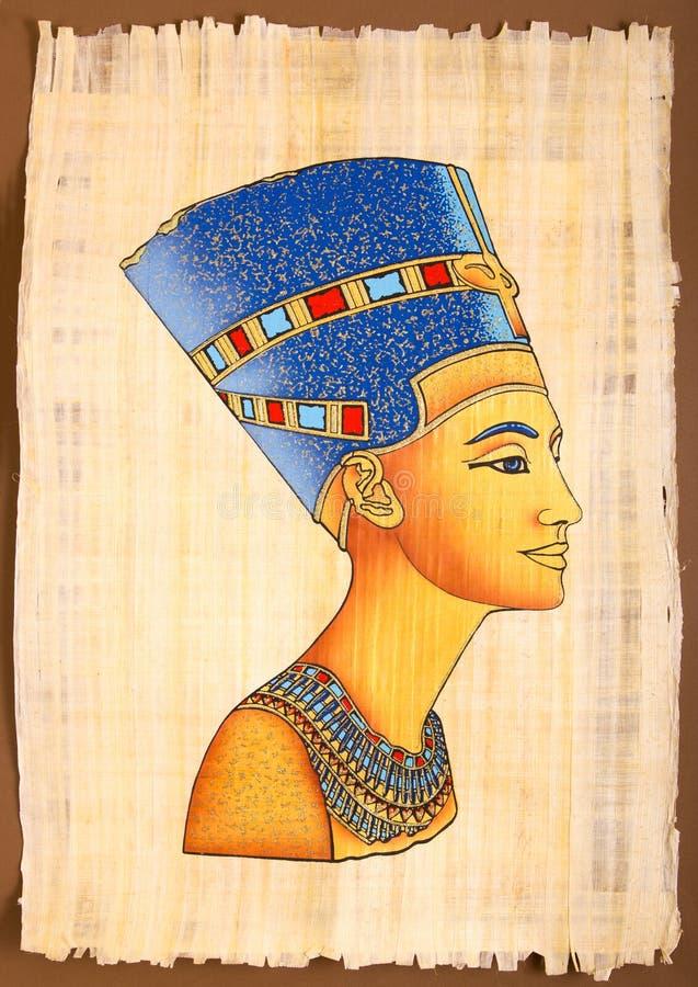 Papyrus Nefertiti image libre de droits