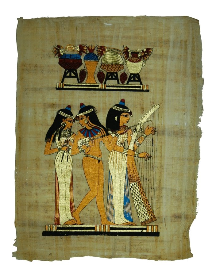 Papyrus painting royalty free stock photo
