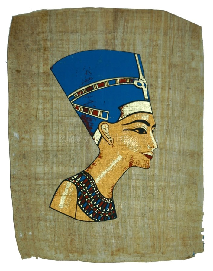Papyrus painting stock images