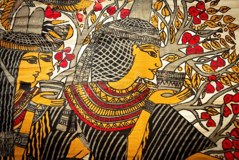 Papyrus Pharaoh royalty free stock photos
