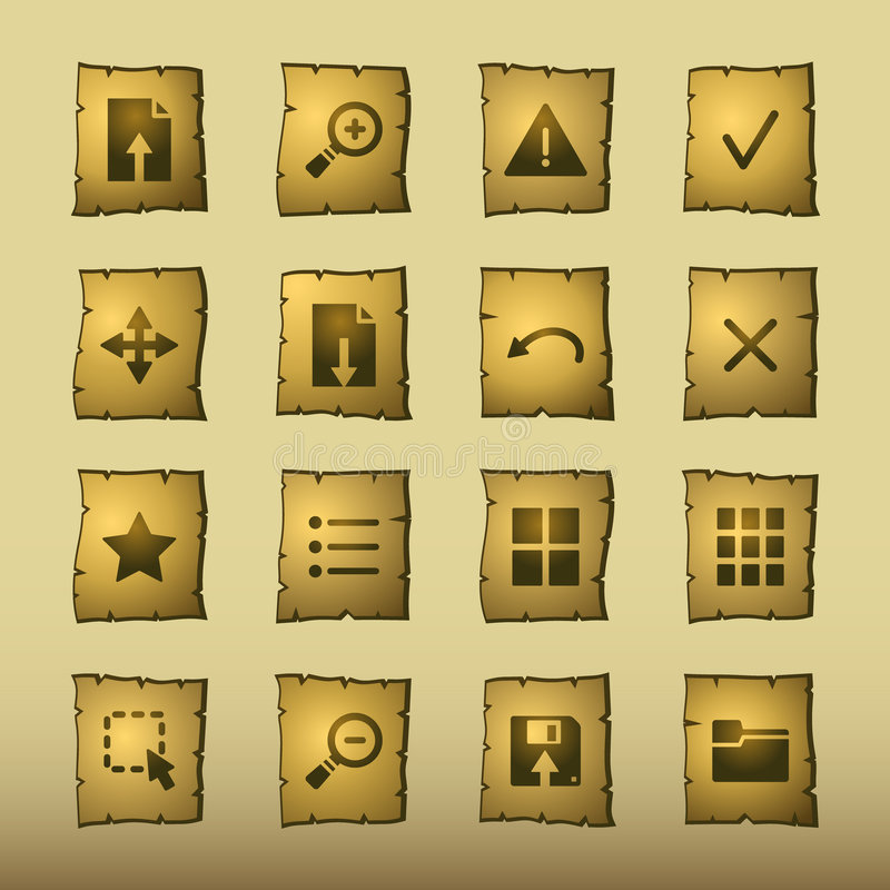 Papyrus Viewer Icons Stock Photography