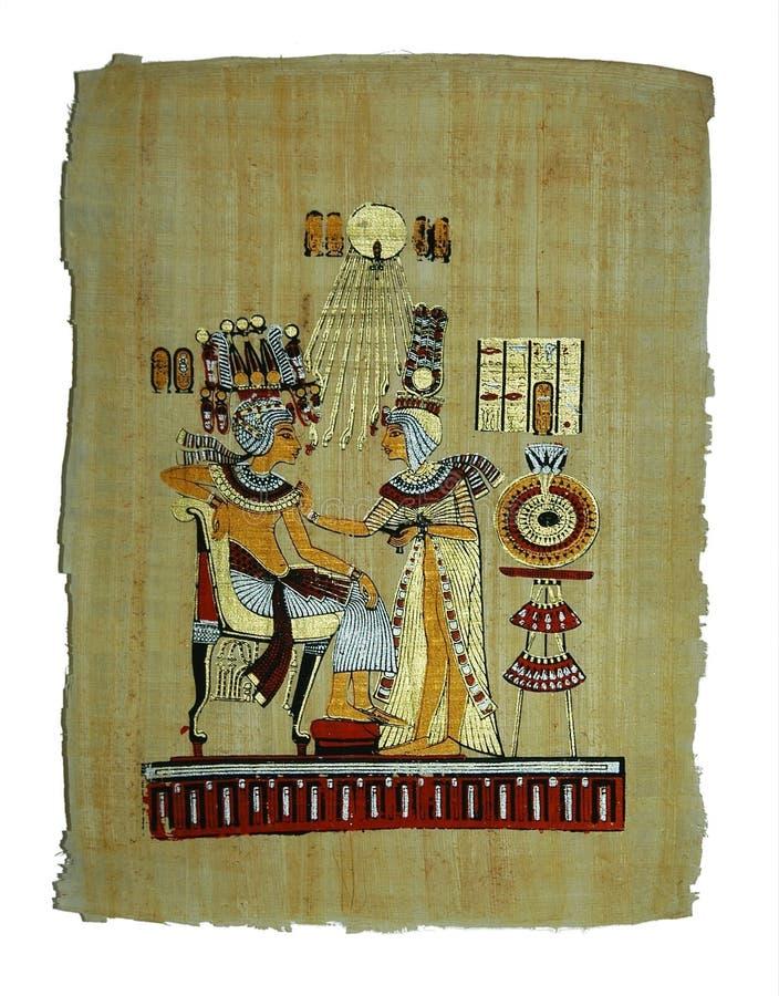 Papyrusanstrich stockbild