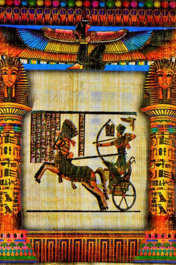 Papyrushandstilmaterial, i forntida tider som är gemensamma i Egypten och senare i det hela utrymmet av den forntida världen Papy arkivbild