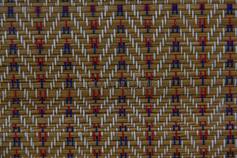 Papyrusmatten geweven patronen stock foto