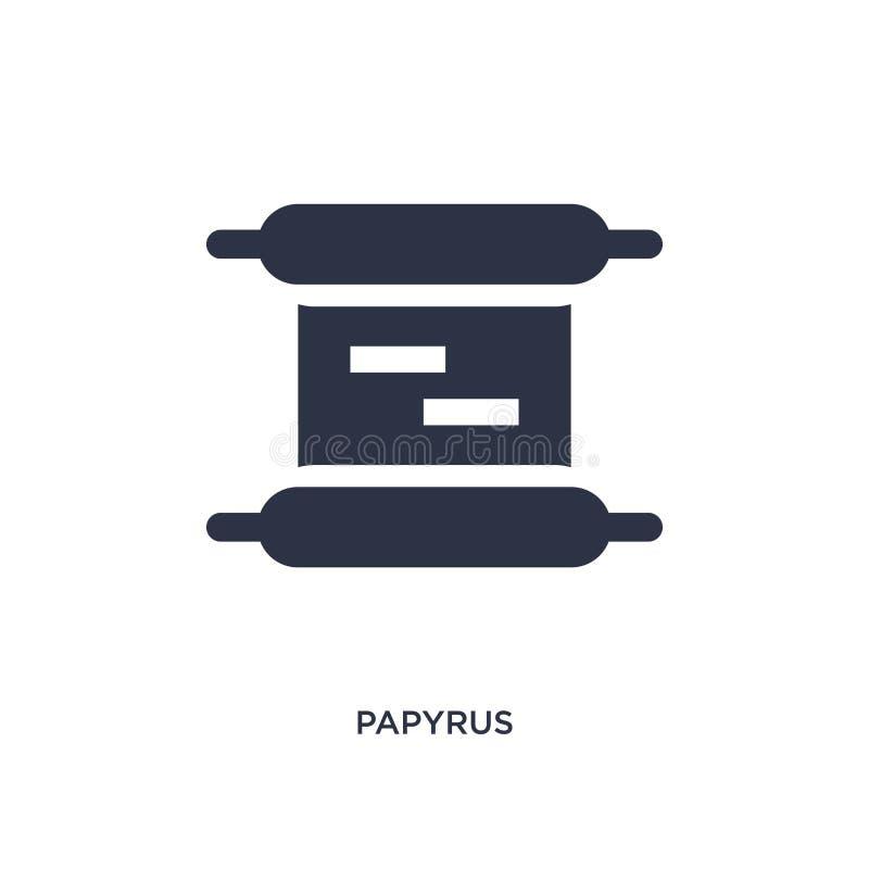 papyruspictogram op witte achtergrond Eenvoudige elementenillustratie van onderwijs 2 concept stock illustratie