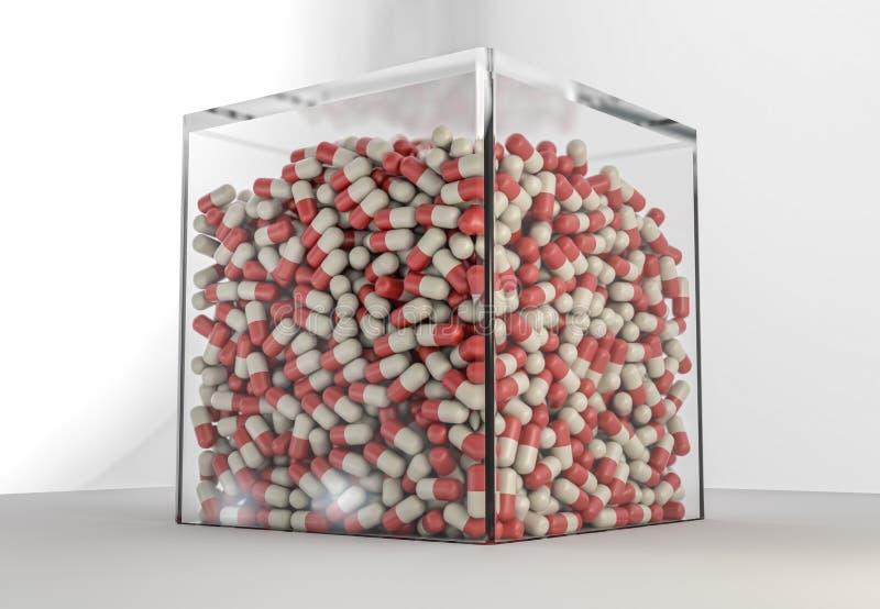 Paquet énorme de pilules illustration libre de droits