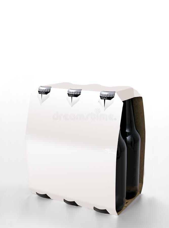 Paquet blanc de bière images stock
