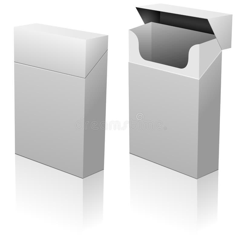 paquet blanc de cigarettes illustration de vecteur