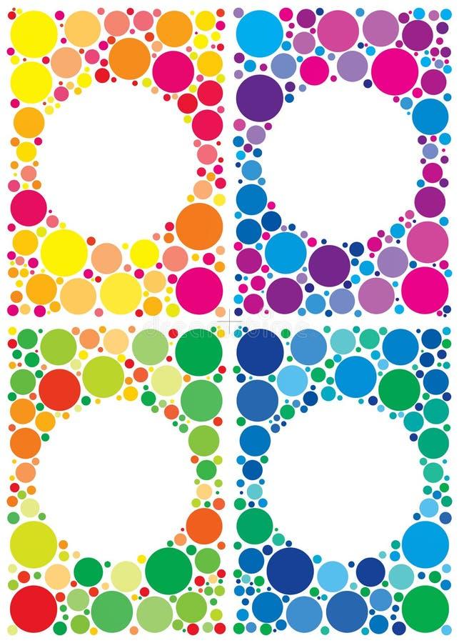 Paquet coloré de milieux illustration libre de droits