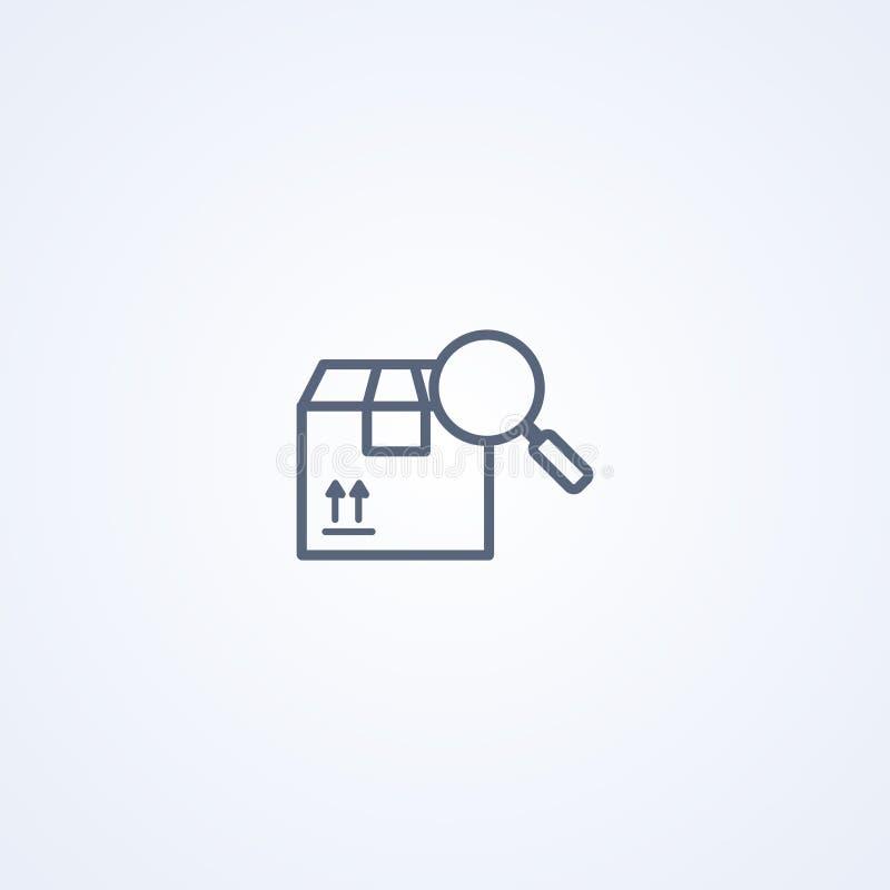 Paquet dépistant, la meilleure ligne grise icône de vecteur illustration de vecteur