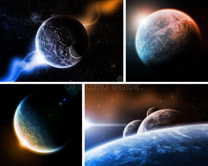 Paquet d'apocalypse d'Eart de planète illustration de vecteur