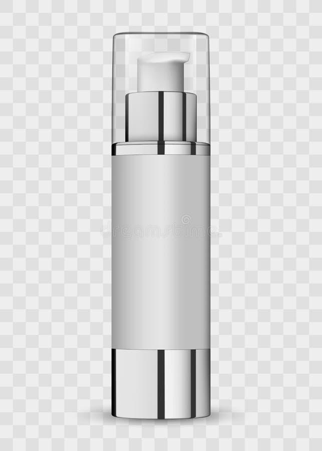 paquet 3d cosmétique réaliste blanc illustration de vecteur