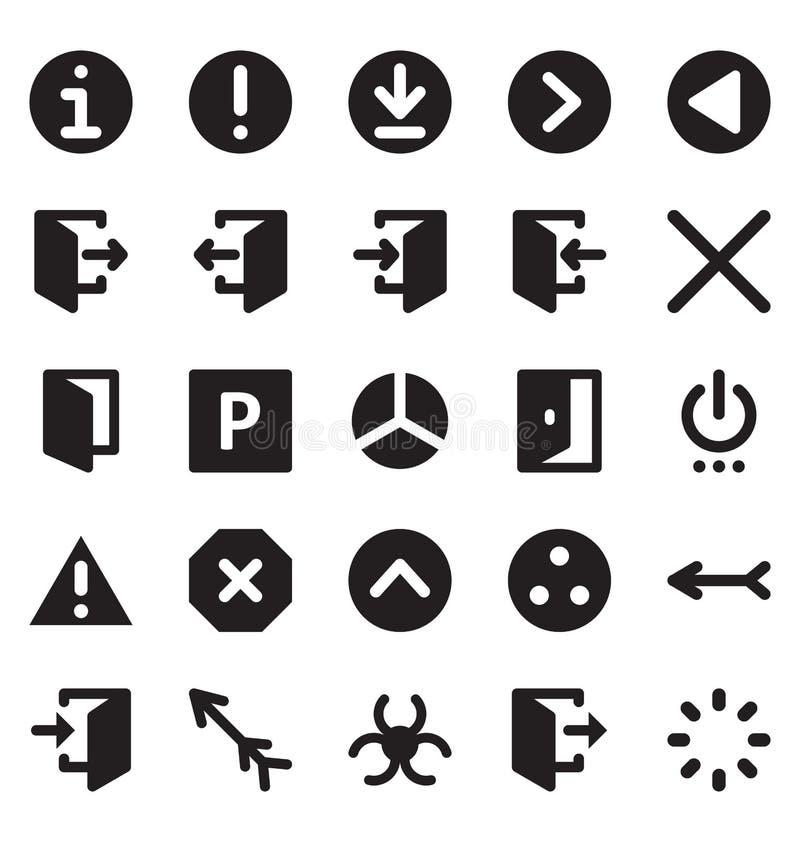 Paquet d'icône de vecteur d'isolement par conception matérielle qui peut facilement modifié ou éditer dans n'importe quelle coule illustration libre de droits