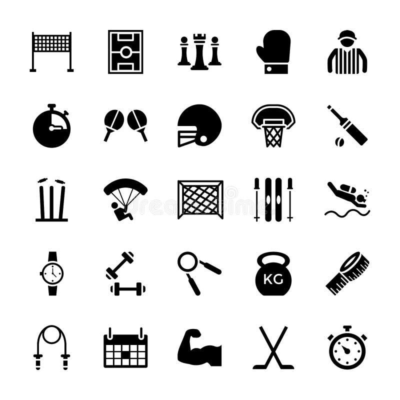 Paquet d'icônes de sports illustration libre de droits