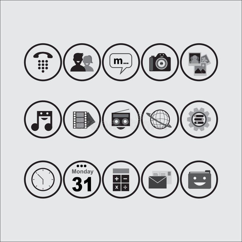 Paquet d'icône (BW) photo stock