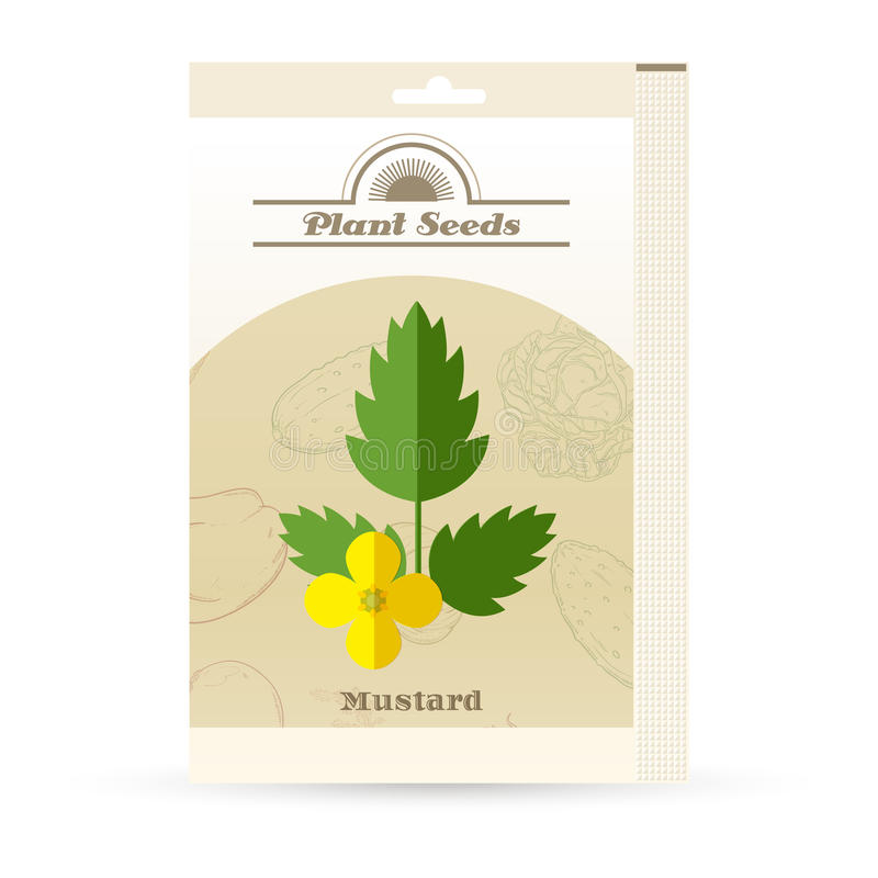 Paquet d'icône de graines de moutarde illustration libre de droits