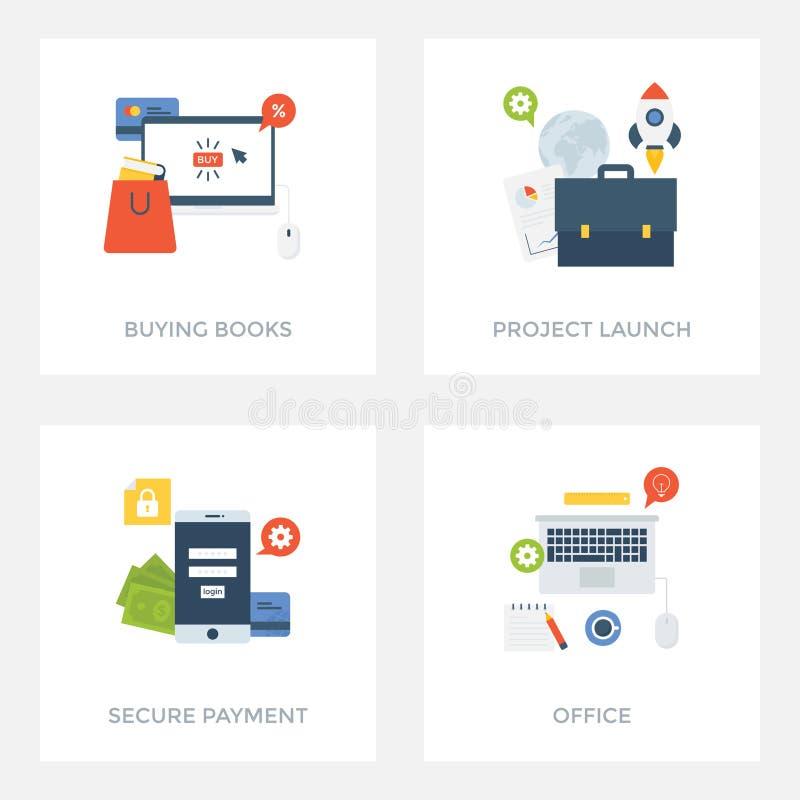 Paquet d'illustrations d'UI/UX illustration stock