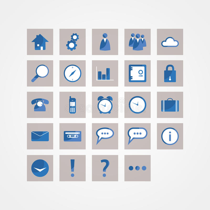 Paquet de base d'icône de vecteur. Icônes de conception moderne pour le site Web ou prese illustration stock