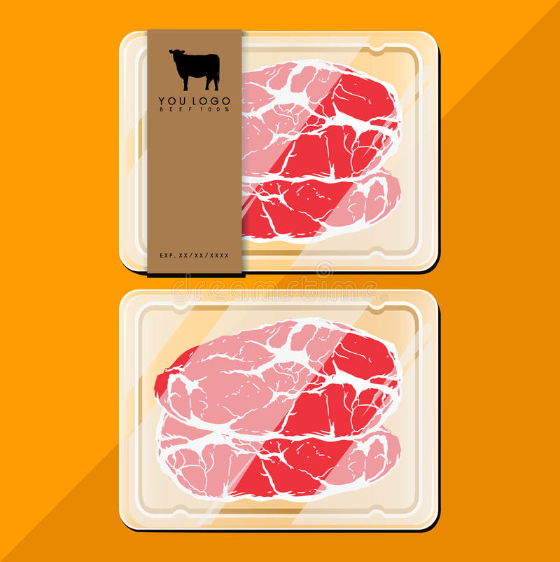 Paquet de boeuf illustration stock