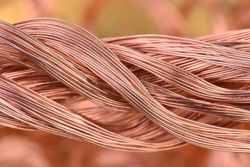 Paquet de câblage cuivre photos libres de droits