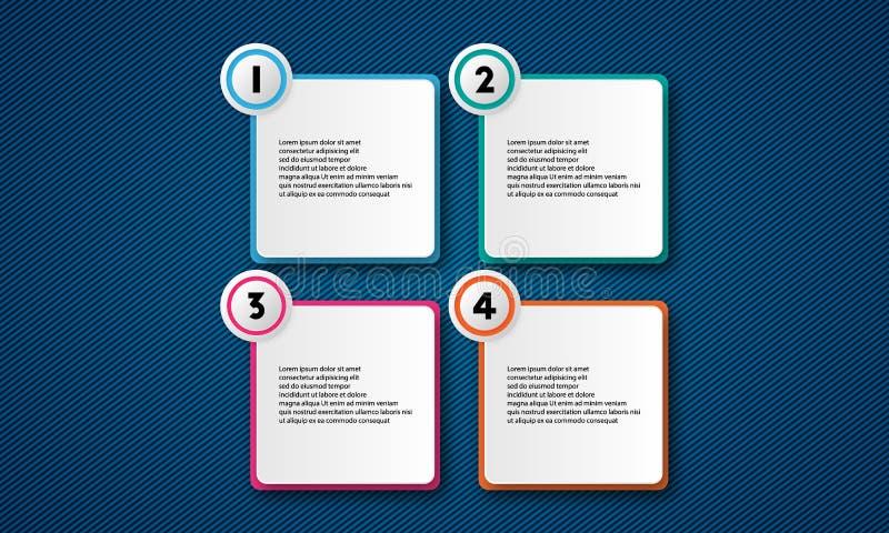 Paquet de calibre d'Infographic réglé pour des présentations d'affaires photos libres de droits