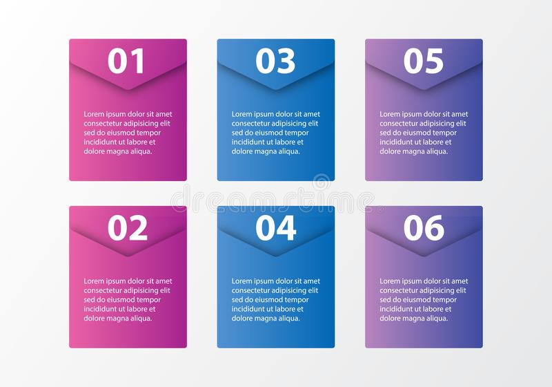Paquet de calibre d'Infographic réglé pour des présentations d'affaires images libres de droits