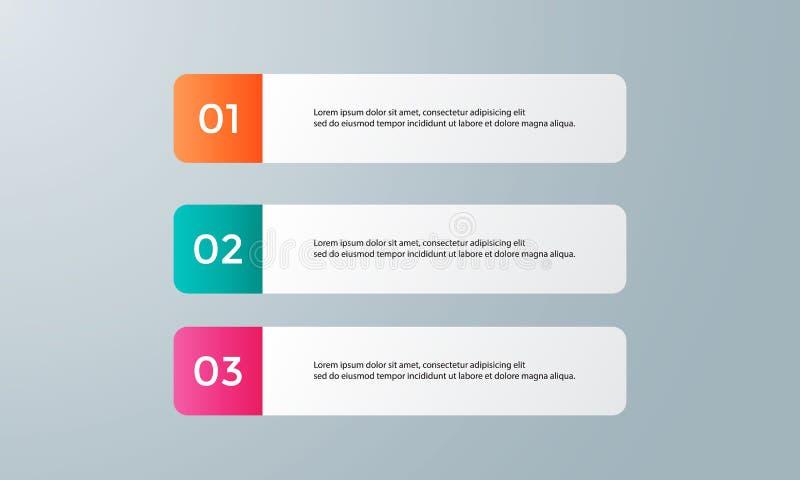 Paquet de calibre d'Infographic réglé pour des présentations d'affaires image stock