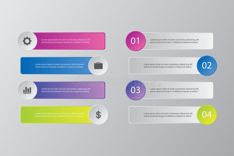 Paquet de calibre d'Infographic réglé pour des présentations d'affaires photo libre de droits